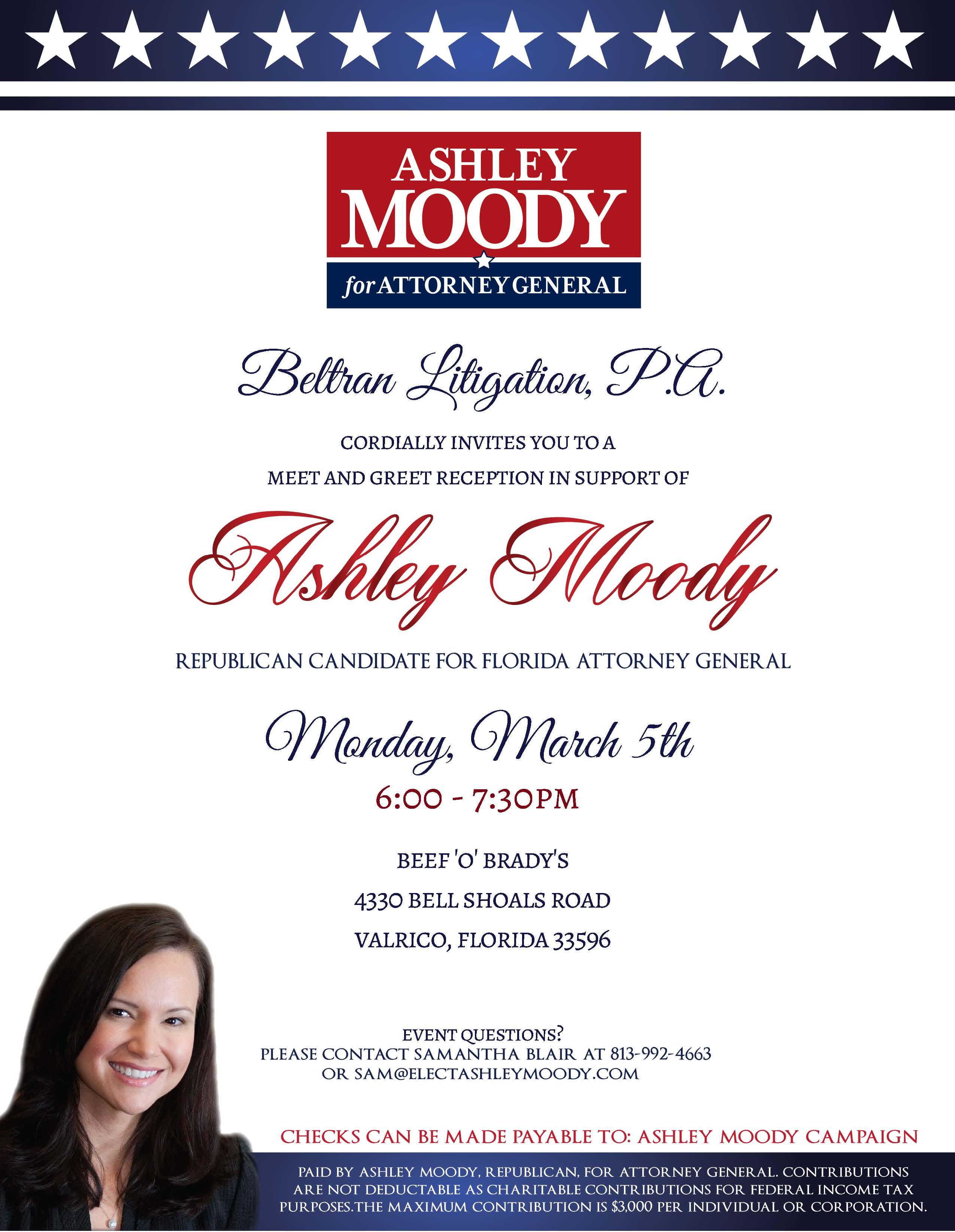 Beltran Litigation Pa Hosting Meet And Greet For Judge Ashley